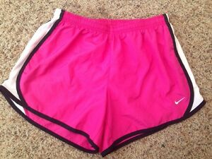 ++ Girl's NIKE Dri-Fit Lined Running Shorts Sz XL YOUTH PinkWhite ~ MINT COND