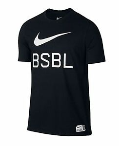 Nike Men Swoosh Dri-fit Cotton Jersey Shirts Running Black Tee Shirt 813050-010