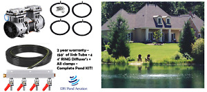 NEW 3 4hp Large Pond Aerator System 150 Hose 4 Diffusers Valve 2yr Warranty $675.99