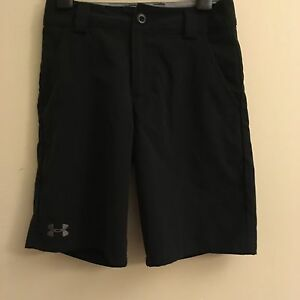 Under Armour  Golf Shorts •BLACK• Boys Youth SMALL