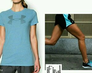 NWT Under Armour Women's Medium Outfit Top Shorts Fly By Run Favorite 2pc Logo