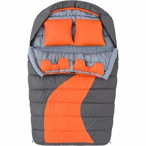Camping Sleeping Bag Gear Double Cold Weather Outdoor Sporting Goods Sports New