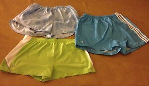 Lot 3 Shorts Adidas Blue Nike Dry Fit Lt Blue Green Underarmor UA Size Large