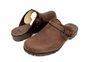 TEVA DELAVINA MULE DARK BROWN WATERPROOF LEATHER CLOGS SIZE 8 US $50.96