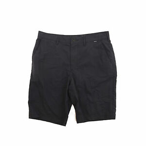 HURLEY MEN'S 'DRY OUT' NIKE DRY-FIT CASUAL SHORTS CHARCOAL GRAY SIZE 32 B98