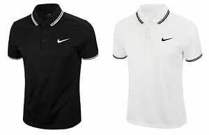 Nike Men Code Dri-fit Polo Jersey Shirts Running White Black Tee Shirt 830848