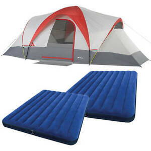Camping Tents WBeds  Sporting Goods Outdoor Sports Hiking Dome Airbeds Large