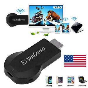 1080p Wireless WiFi Display TV Dongle Receiver Airplay HDMI For Samsung iPhone