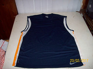 Nike Sphere Dry Men's 2XL Navy Blue Sleeveless Loose Fit Dri-Fit Tee T-Shirt EUC