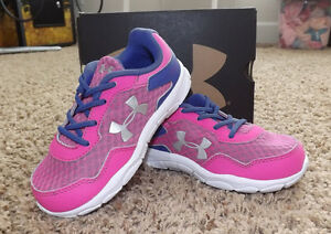 NIB Under Armour Infant Engage 2 BL Girls Shoes Toddler Size 5 8 9 Pink Purple