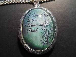 I LOVE YOU TO THE MOON AND BACK GREEN TREE LOCKET HIGH QUALITY $21.15