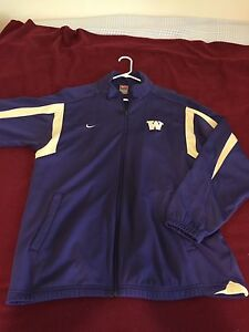 Nike Men's University Of Washington Huskies Dry Fit Track Jacket XL