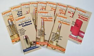 Lyman Load Data Books - cover all popular brands of powder, primers,
