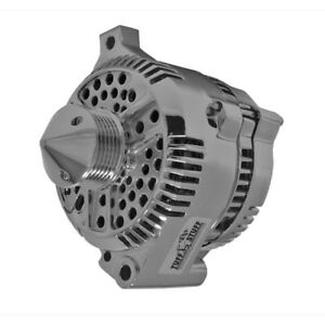 Tuff Stuff Alternator 7771DPBULL6G; 3G 225 Amp Polished w 6G Bullet Nose Pulley