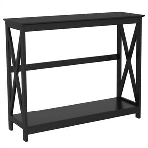 Console Table Modern Accent Side Stand Sofa Entryway Hall Display Storage Shelf $73.99