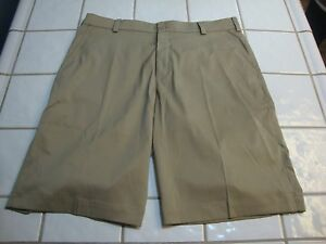 NIKE Golf Tour Performance Dri Fit Tan Shorts Polyester Spandex Men's Size 33