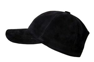 BASEBALL CAP NAVY BLUE  UNISEX REAL SUEDE LEATHER HIP HOP GOLF HAT HUNT CLASSIC