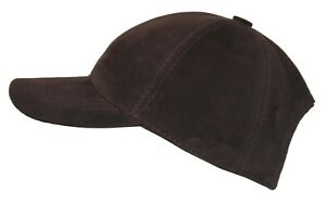 NEW BASEBALL CAP BROWN UNISEX REAL SOFT SUEDE LEATHER HIP HOP GOLF HAT HUNT COOL