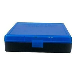 BERRY'S PLASTIC AMMO BOXES (6) BLUE 100 Round 40 S&W  45 ACP - FREE SHIPPING