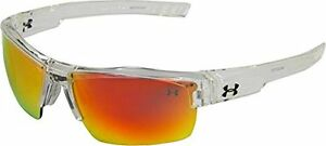 Under Armour Igniter Multiflection Sunglasses Crystal Clear FrameGray Orange
