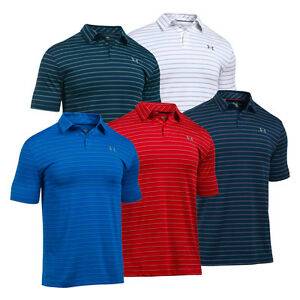 New Under Armour UA CoolSwitch Putting Stripe Men's Golf Polo Shirt