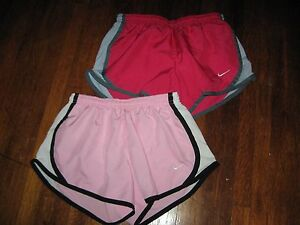 Nike Girls DRI-FIT Running Shorts Size S Youth Pink (Lot of 2) GUC