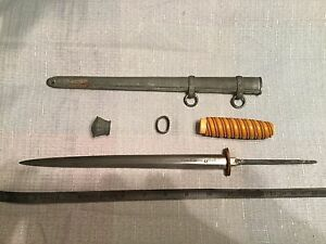 Antique Parts for a German Army Knife  Dagger  with Scabbard WKC Solingen Part