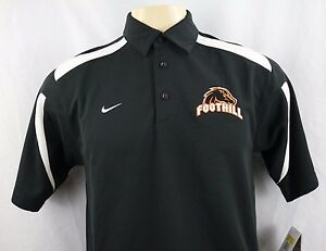 NEW Nike Fit Dry Foothill Embroidered Men's Short Sleeve Polo Shirt Size S