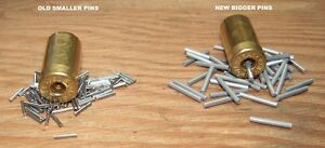.49 x .062 SS pins 2.5 lb bag for cleaning brass cases in your tumbler.