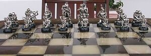 Tigrani Modern Erotic Sterling Silver Chess Set