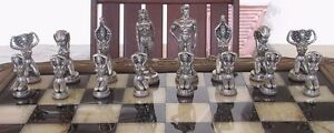 "Tigrani ""Nudes"" Sterling Silver Chess Set"