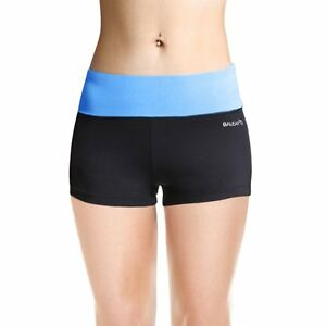 Baleaf Women's Workout Running Boy Cut Foldover Shorts Inner Pocket Little...