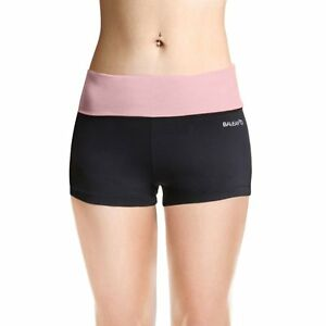 Baleaf Women's Workout Running Boy Cut Foldover Shorts Inner Pocket Quartz...