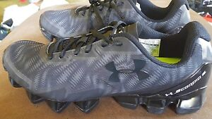 Under Armour Mens UA Scorpio 2 Running Shoes Black Gray size 11.5 new