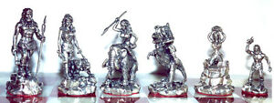 Tigrani Prehistorical Sterling Silver Chess set
