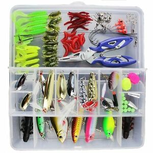 101x Colorful Fishing Lures Suit Crankbaits Sharp Hooks Tackle Minnow Bass Baits