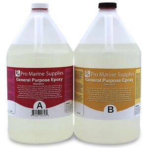 Crystal Clear Epoxy Resin General Purpose Bar Table Top Coating 2 Gallon Kit $94.97