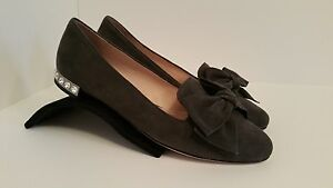MIU MIU by PRADA ~ CRYSTAL HEEL LOAFERS w BOX ~ SIZE 38.5
