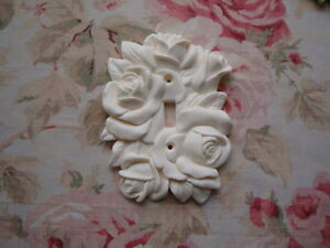 New Shabby Chic Gorgeous Carved Roses amp; Leaves Single Toggle Switch Plate Cover