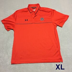 Auburn Team Issued Player Issued Under Armour XL 2014 Tiger Walk Polo
