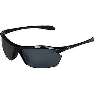 Under Armour Zone XL Polarized Sunglasses Shiny Black FrameGray Polarized