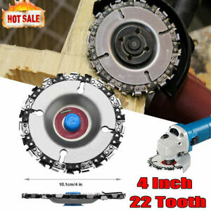 4'' Angle Grinder Disc 22 Tooth Chain Saw For Wood Carving Culpting Plastic Tool