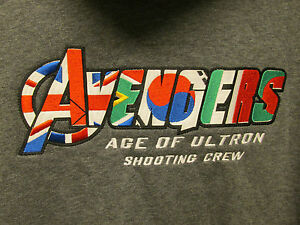 AVENGERS AGE OF ULTRON MOVIE PROMO FILM CREW XL UNDER ARMOUR HOODIE PROP SHIRT