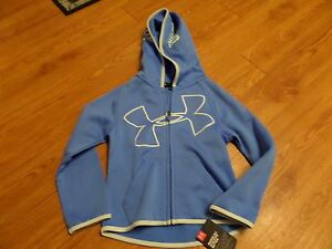 bnwt-girls full zip under armour  hoodie size 4-blue-$39.99