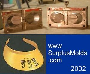 plastic injection mold 2 cavity visor
