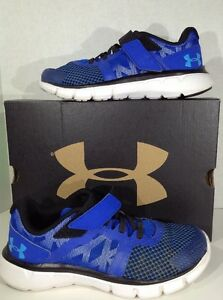 UNDER ARMOUR The Shift Boys Size 2 Blue Running Athletic Shoes X2-678