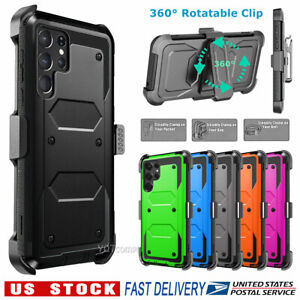 Rugged Phone Case for Samsung Galaxy S8 S9 S10 S20 Plus Cover w Belt Accessories