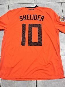 HOLLAND WC 2010 MATCH DETAILS SNEIJDER DRY FIT AUTHENTIC JERSEY !