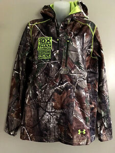 Under Armour Mens DeadCalm Scent Control Camo Jacket Hoodie S Cold Gear NWT $120