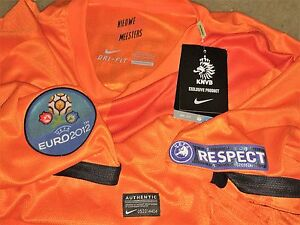 HOLLAND ROBBEN  EURO 2012 MATCH DETAILS DRY FIT AUTHENTIC JERSEY - BNWT !